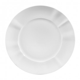 Plato Llano blanco porcelana 6 uds