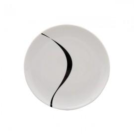 Plato Pan blanco y negro 6 uds