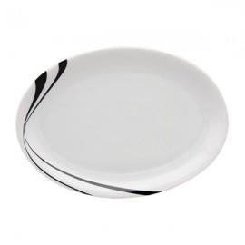 Fuente Oval Vajilla M blanco y negro