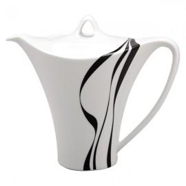 Cafetera Vajilla blanco y negro