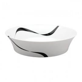 Fuente de Pasta Vajilla blanco y negro