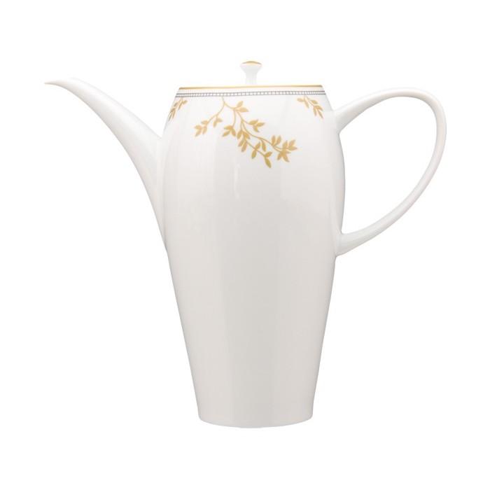 Cafetera Vajilla blanco y dorado
