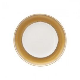 Plato Pan blanco y dorado 6 uds