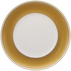 Plato Bajo blanco y dorado