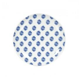 Plato Pan blanco y azul 6 uds