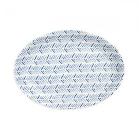 Fuente Oval 8 Vajilla blanco y azul