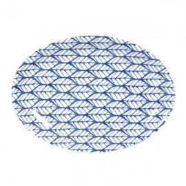 Fuente Oval 6 Vajilla blanco y azul
