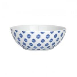 Bol de Cereales Bolas blanco y azul 6 uds