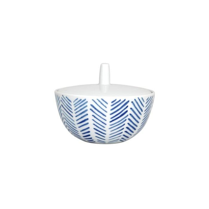 Azucarero de Espinas Vajilla blanco y azul