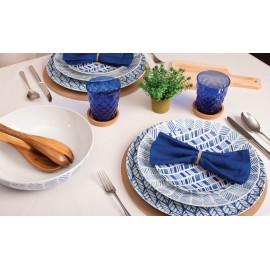 Vajilla Blanco y Azul